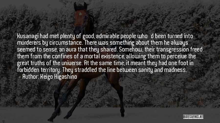 Madness And Sanity Quotes By Keigo Higashino