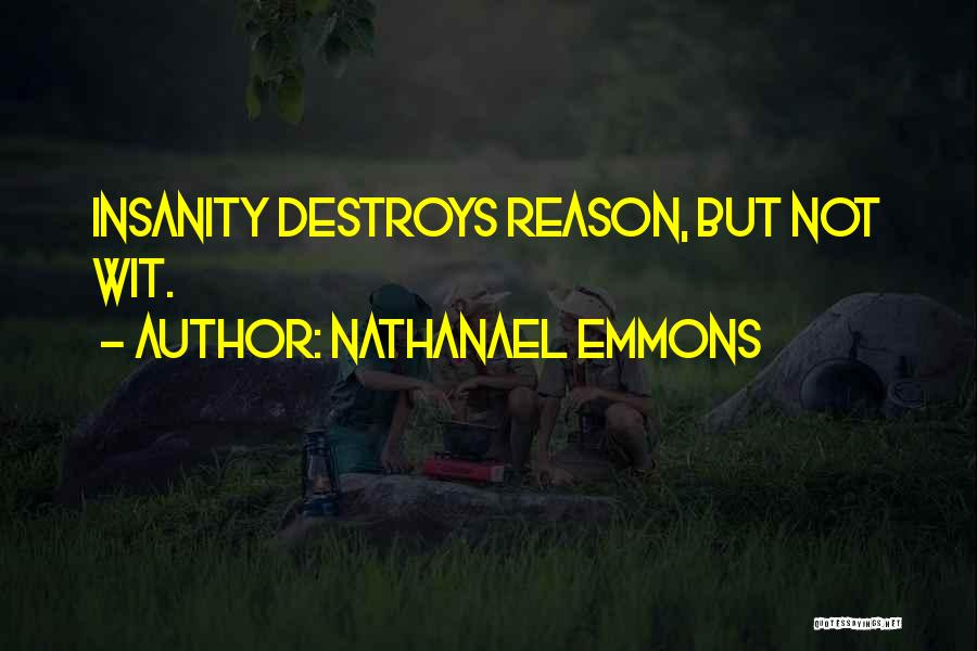 Madness And Sanity Quotes By Nathanael Emmons