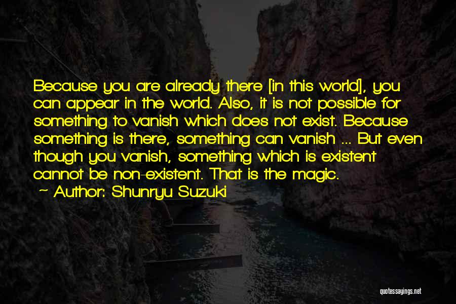 Magic Does Exist Quotes By Shunryu Suzuki