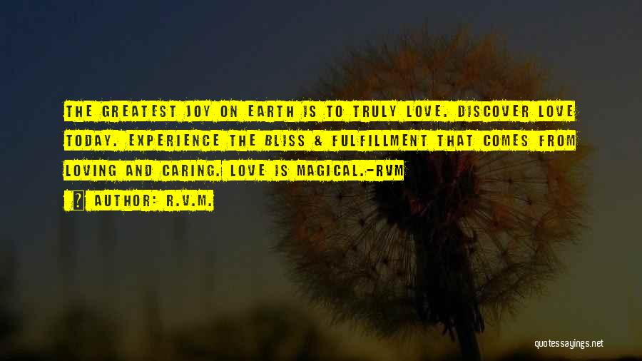 Magical Love Quotes By R.v.m.