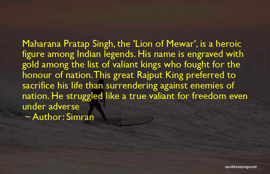 Maharana Quotes By Simran