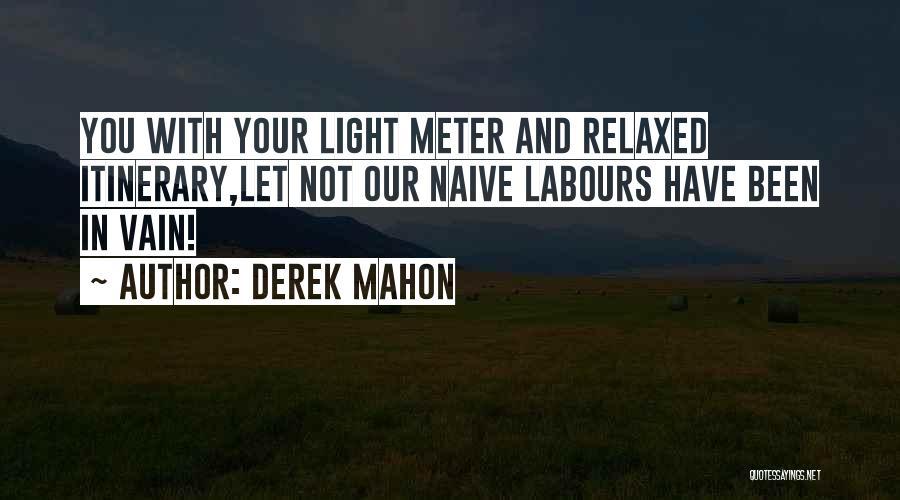 Mahon Quotes By Derek Mahon