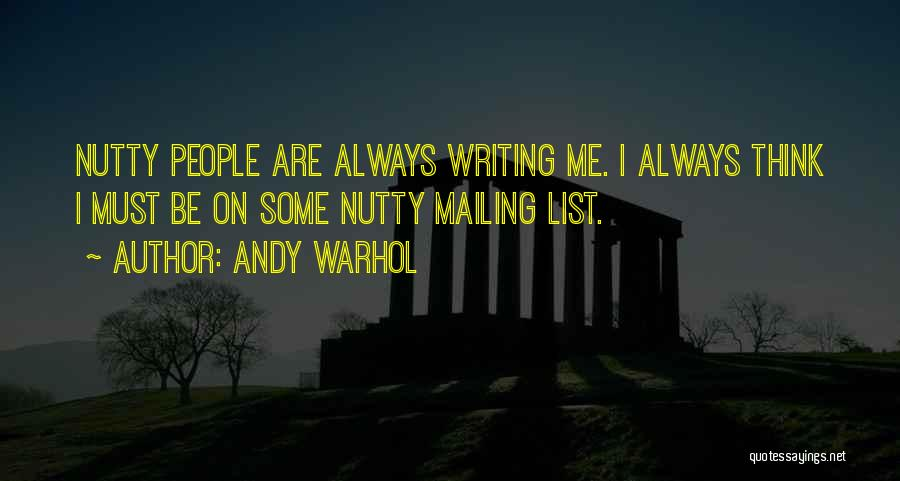 Mailing Quotes By Andy Warhol