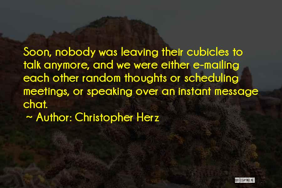 Mailing Quotes By Christopher Herz