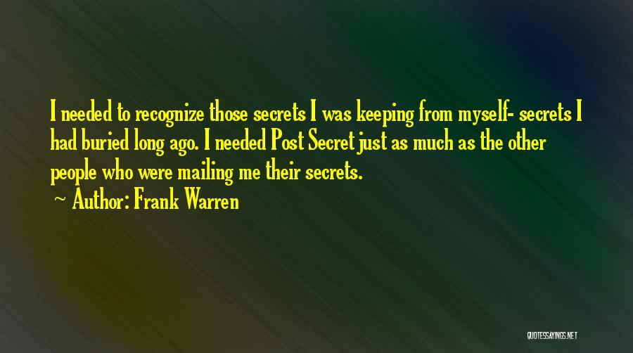 Mailing Quotes By Frank Warren