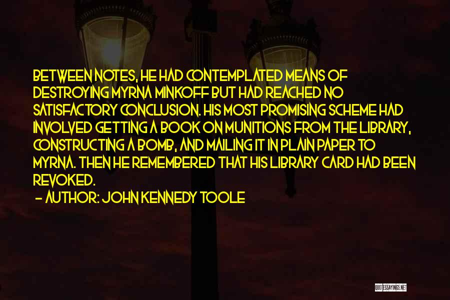 Mailing Quotes By John Kennedy Toole