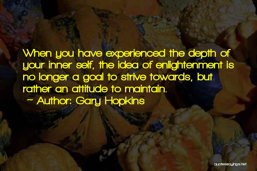 Maintain Attitude Quotes By Gary Hopkins