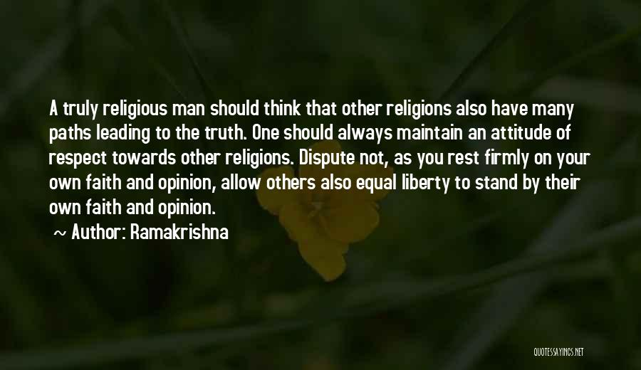Maintain Attitude Quotes By Ramakrishna