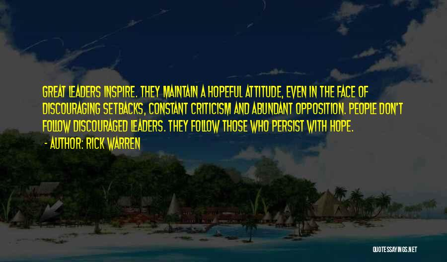 Maintain Attitude Quotes By Rick Warren