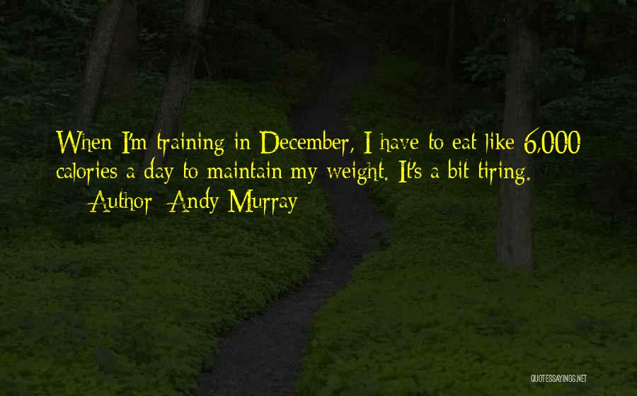 Maintain Weight Quotes By Andy Murray