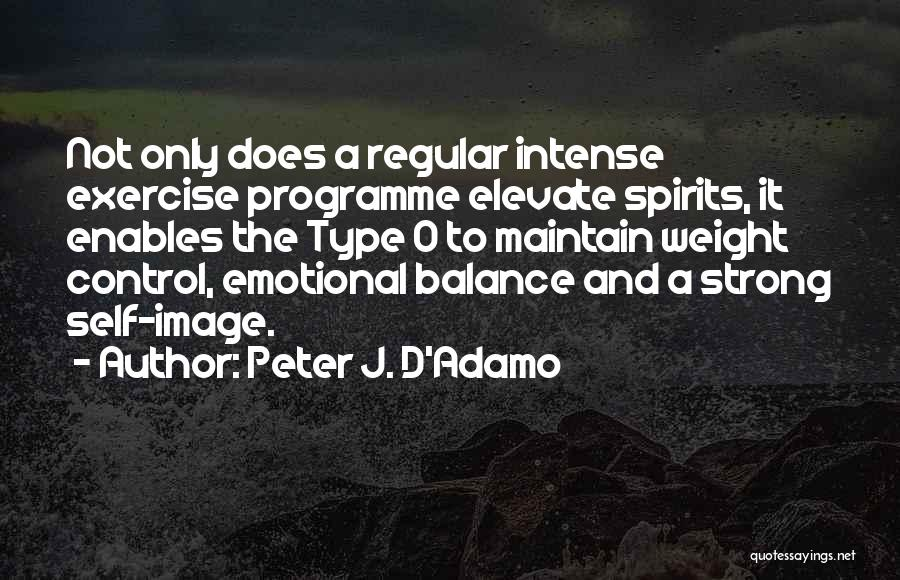 Maintain Weight Quotes By Peter J. D'Adamo