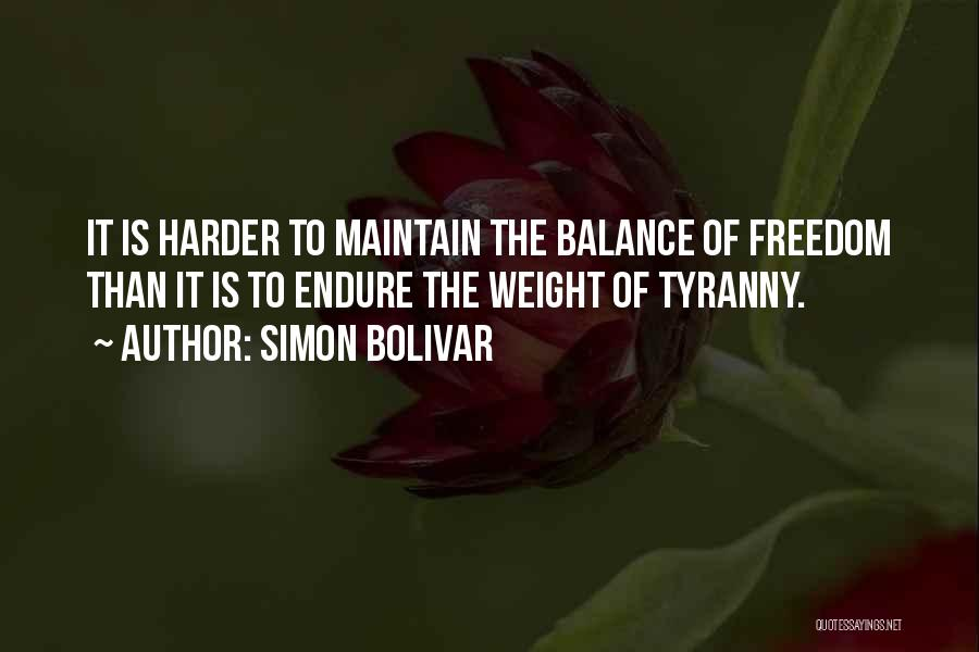Maintain Weight Quotes By Simon Bolivar