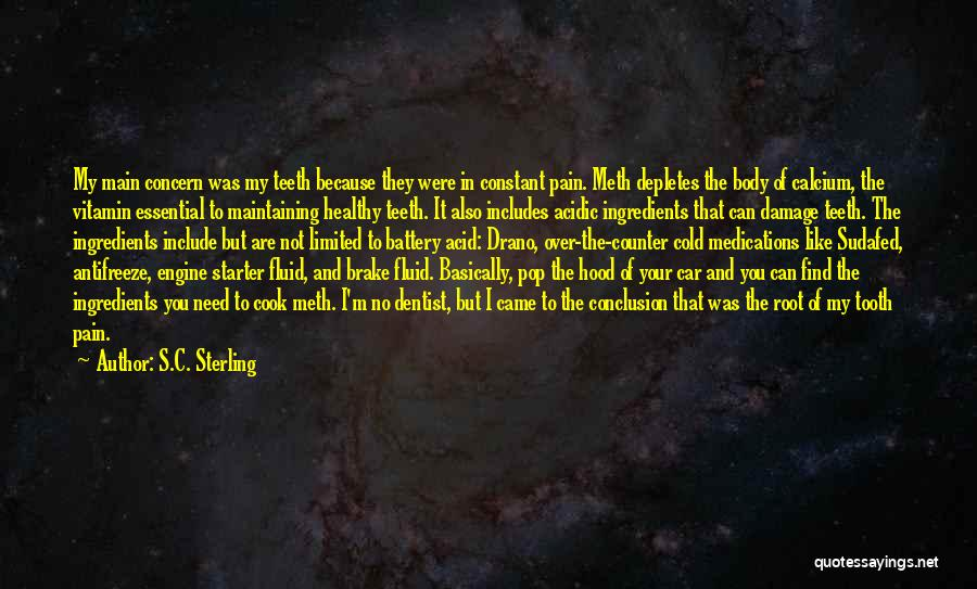 Maintaining A Healthy Body Quotes By S.C. Sterling