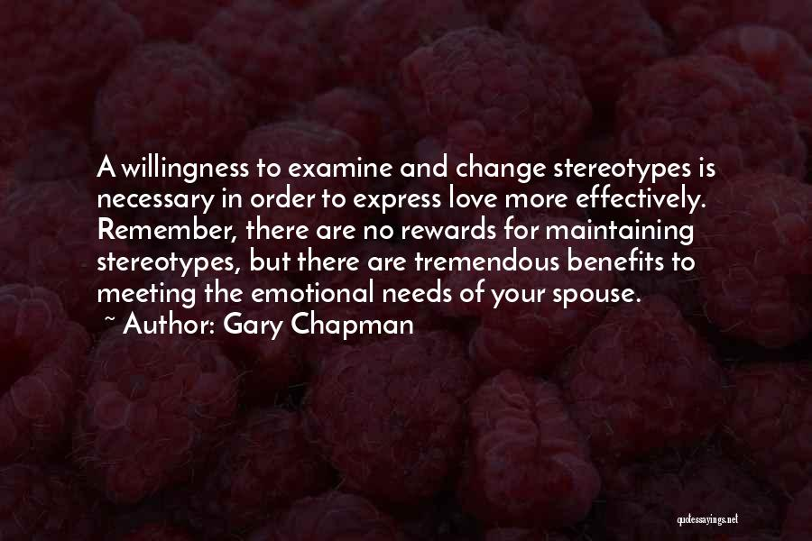 Maintaining Order Quotes By Gary Chapman