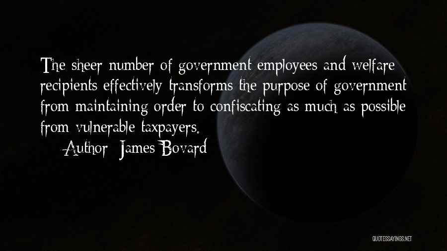 Maintaining Order Quotes By James Bovard