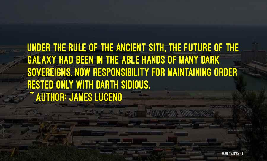 Maintaining Order Quotes By James Luceno