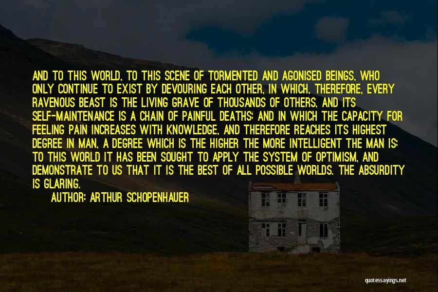 Maintenance Quotes By Arthur Schopenhauer
