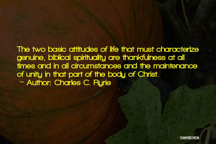 Maintenance Quotes By Charles C. Ryrie