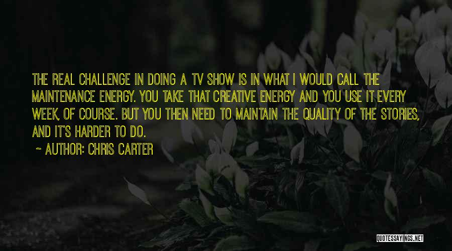 Maintenance Quotes By Chris Carter