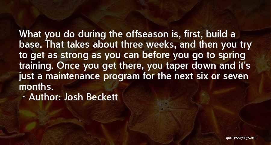 Maintenance Quotes By Josh Beckett