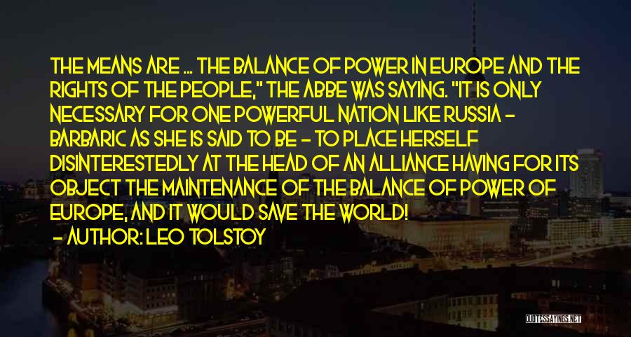 Maintenance Quotes By Leo Tolstoy