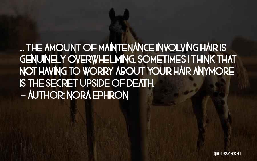 Maintenance Quotes By Nora Ephron