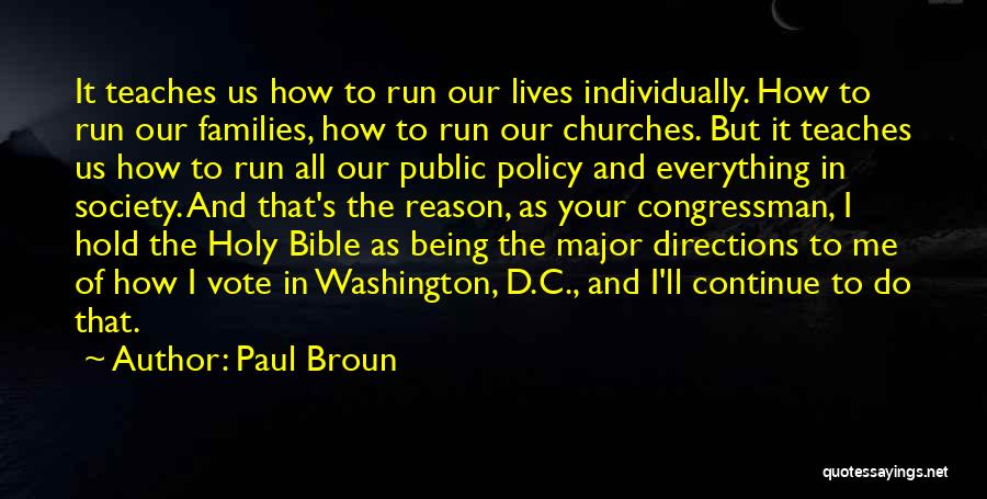 Major Bible Quotes By Paul Broun