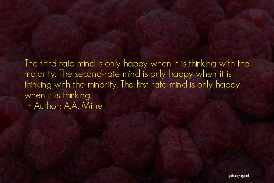 Majority Over Minority Quotes By A.A. Milne