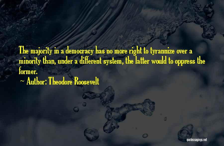 Majority Over Minority Quotes By Theodore Roosevelt