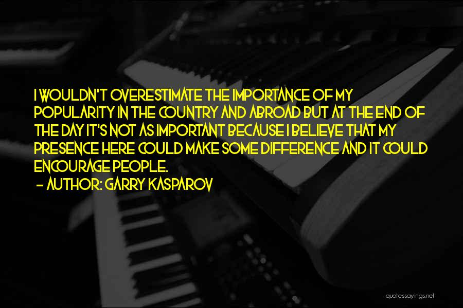 Make Difference Quotes By Garry Kasparov