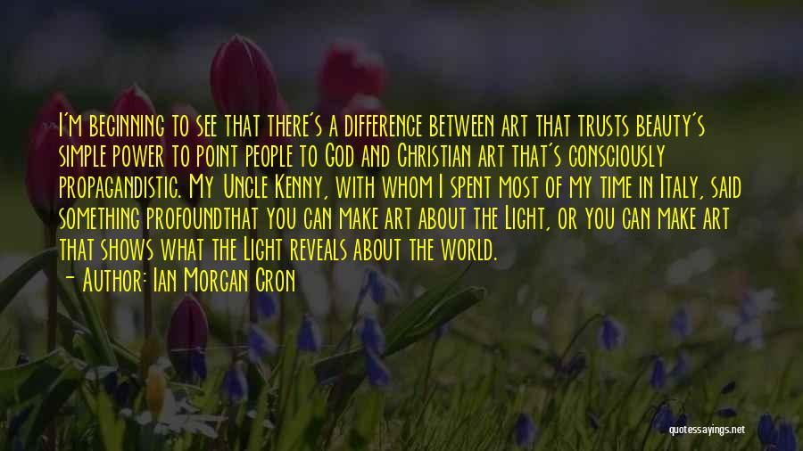 Make Difference Quotes By Ian Morgan Cron