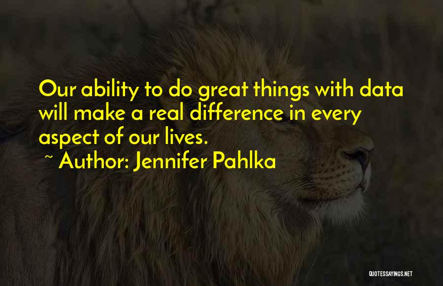 Make Difference Quotes By Jennifer Pahlka