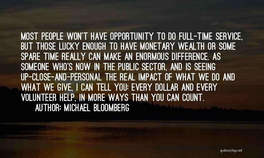 Make Difference Quotes By Michael Bloomberg