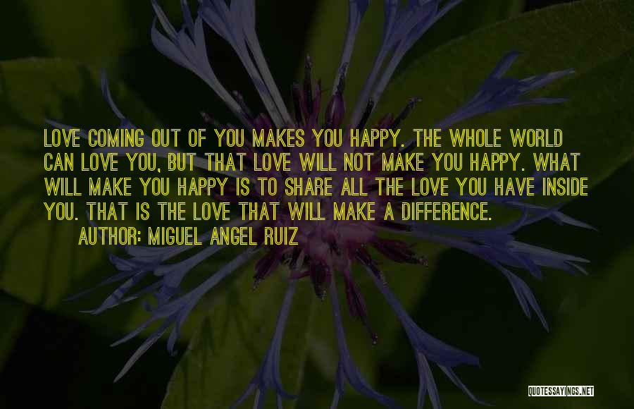 Make Difference Quotes By Miguel Angel Ruiz