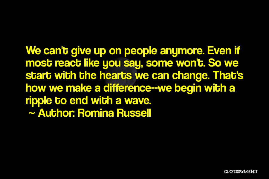 Make Difference Quotes By Romina Russell