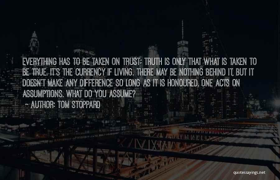 Make Difference Quotes By Tom Stoppard