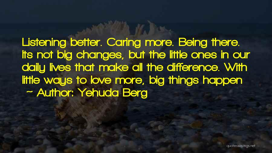 Make Difference Quotes By Yehuda Berg