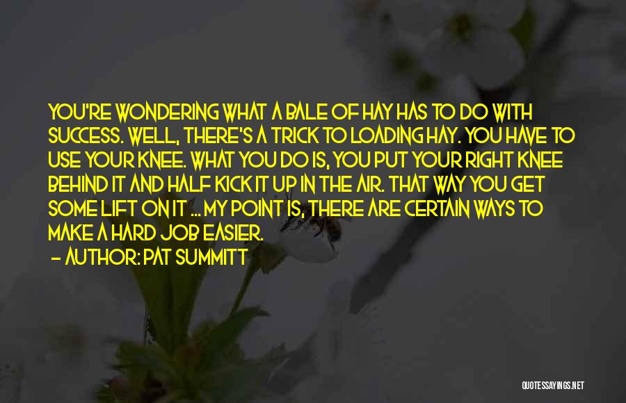 Make It Right Quotes By Pat Summitt