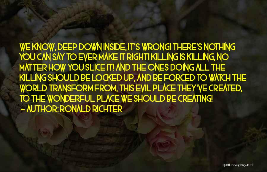 Make It Right Quotes By Ronald Richter