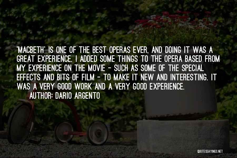 Make It Work Quotes By Dario Argento