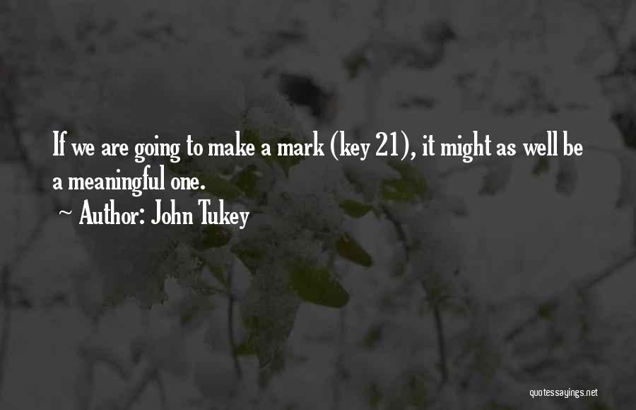 Make It Work Quotes By John Tukey