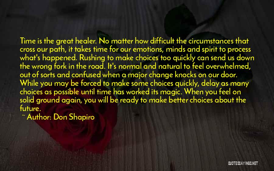 Make Life Difficult Quotes By Don Shapiro