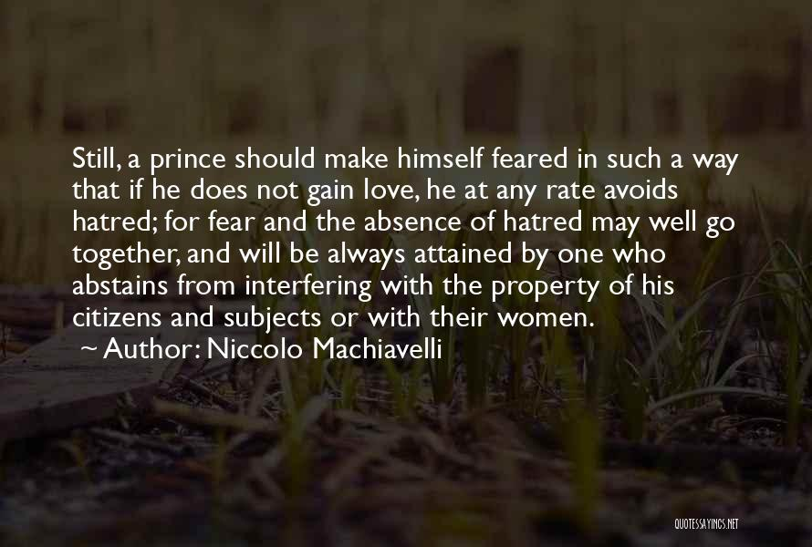 Make Love Not War Quotes By Niccolo Machiavelli