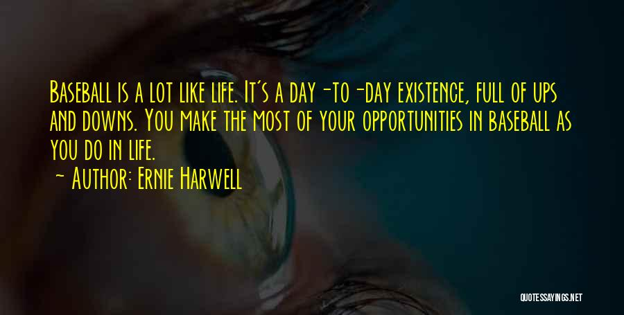 Make The Most Of Your Day Quotes By Ernie Harwell