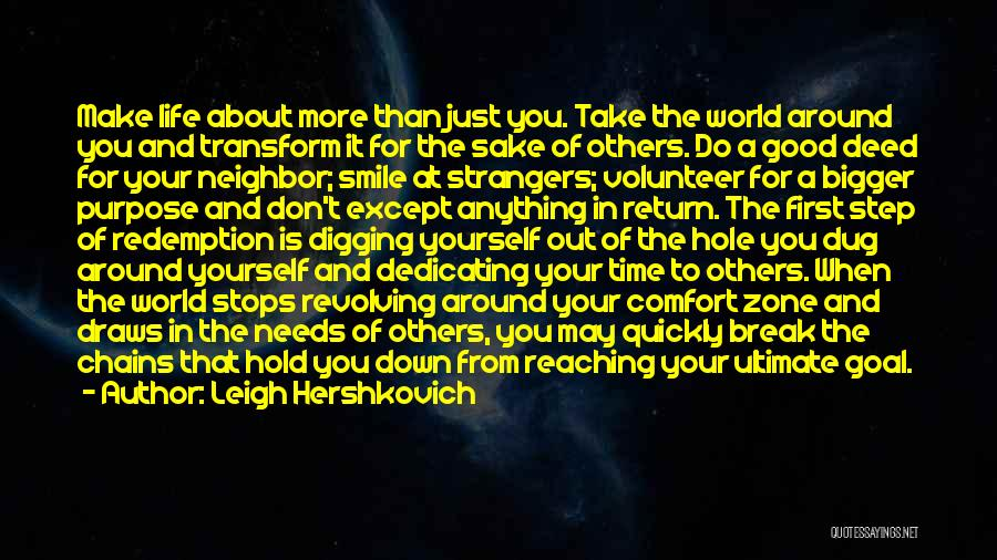 Make Time For Your Friends Quotes By Leigh Hershkovich