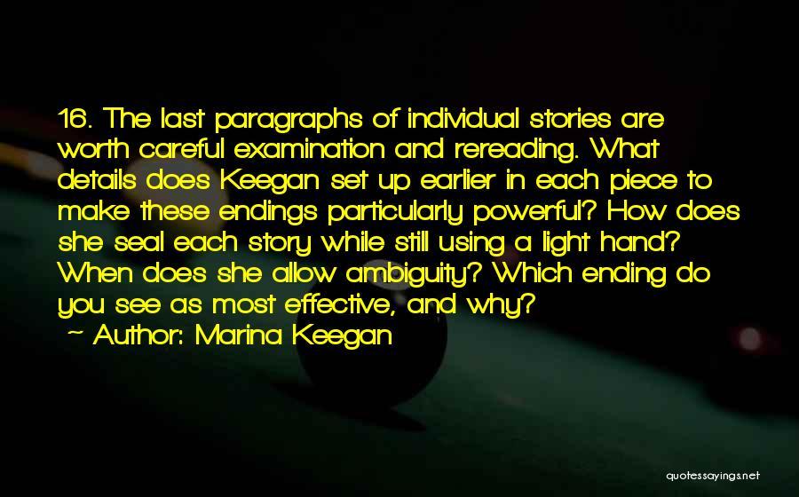 Make Up Stories Quotes By Marina Keegan