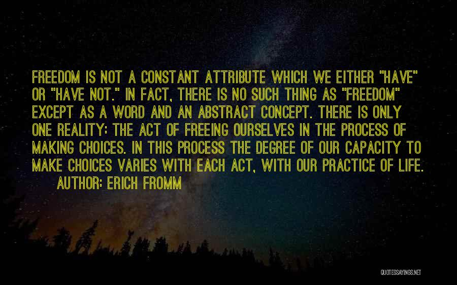 Making Choices In Life Quotes By Erich Fromm