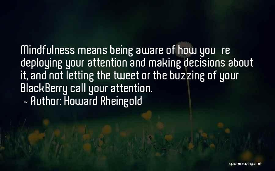 Making Decisions On Your Own Quotes By Howard Rheingold