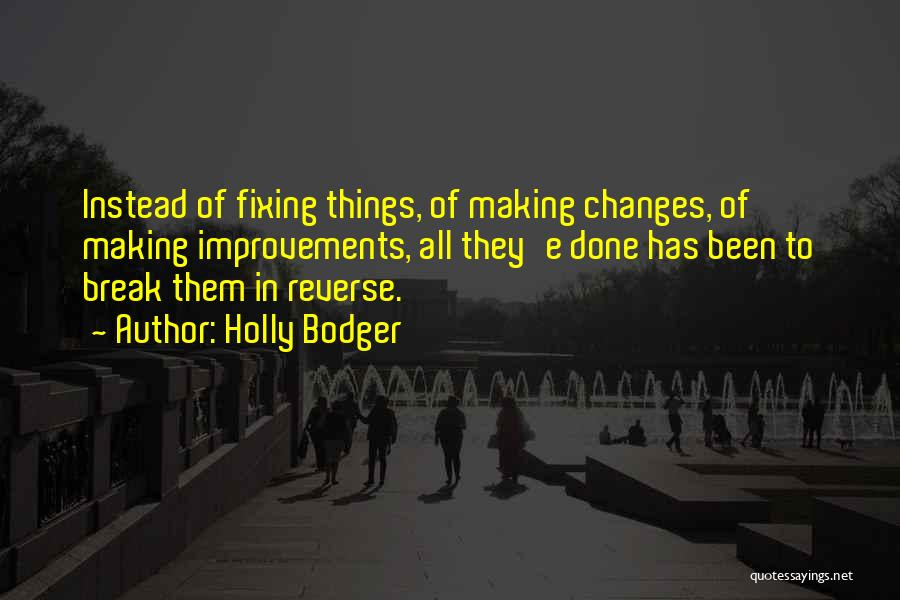 Making Improvements Quotes By Holly Bodger