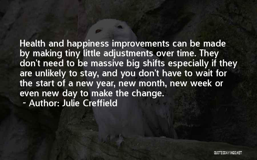 Making Improvements Quotes By Julie Creffield
